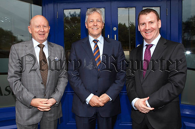 First Minister Peter Robinson is pictured with Principal Sponsors of the event Michael and Tony McKeown from Crash Services.