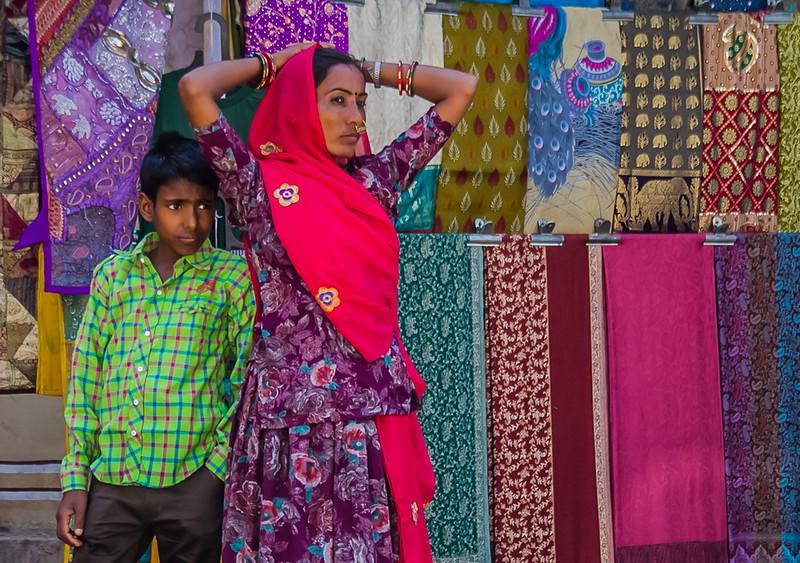 Street merchants in Jaipur, India