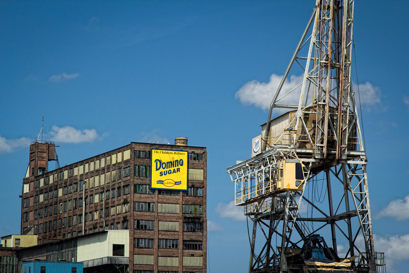 Domino Sugar refinery, as seen along the mighty Mississippi, from the Steamboat Natchez.