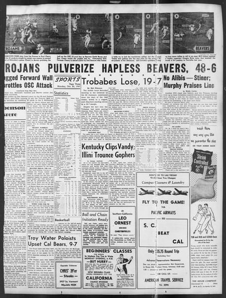 Daily Trojan, Vol. 39, No. 26, October 20, 1947