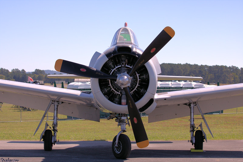North American T28D  s/n 189-2 Trojan   N8009G Rome GA 10/12/2018 This work is licensed under a Creative Commons Attribution- NonCommercial 4.0 International License.