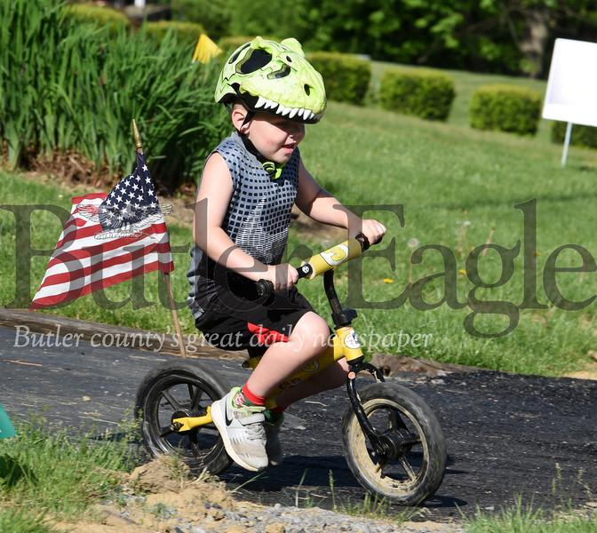 Brayden Bickford, 5, riding bike