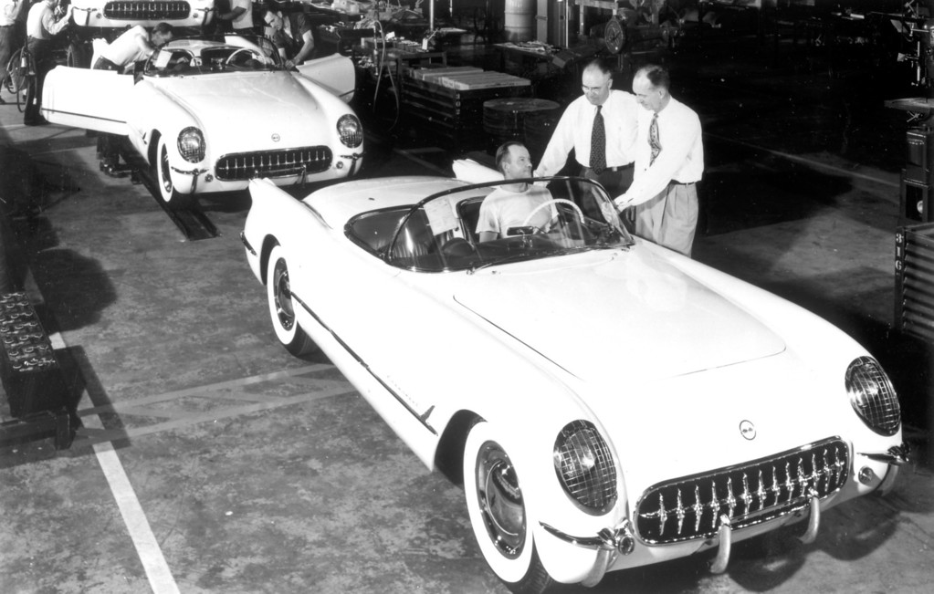 . 1953 Corvette: The first 300 Chevrolet Corvettes were hand-built in Flint, Michigan. Production began on June 30, 1953.  Daily News file photo