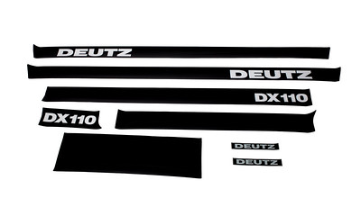 DEUTZ DX 110 SERIES BONNET DECAL SET