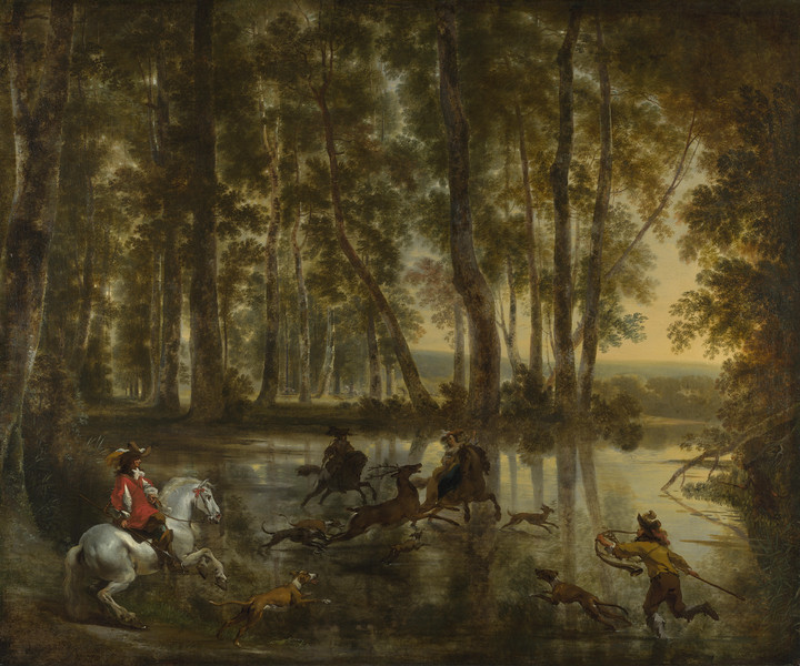 A Stag Hunt in a Forest