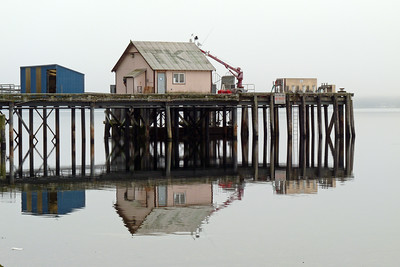 Fuel Dock Reflection with Fog December 2011, Cynthia Meyer, Tenakee Springs, Alaska