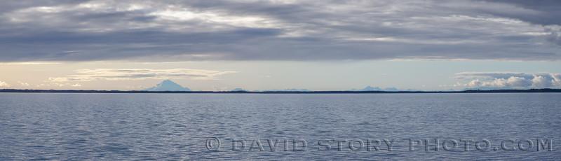 2019 09 21: Mt. Redoubt punctuates the horizon over Skilak Lake, AK.