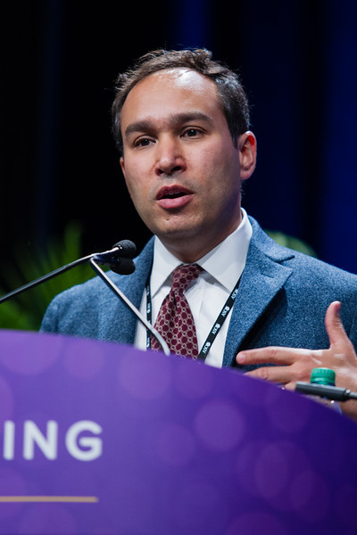 Adam Joel Bass, MD, speaks during HER2, VEGFR, and Beyond: Genomic Profiling of Upper Gastrointestinal Tract Cancers and the Future of Personalized Treatment