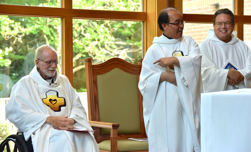 Fr. Quang reminds everyone that the provincial superior, Fr. Ed, is right behind him