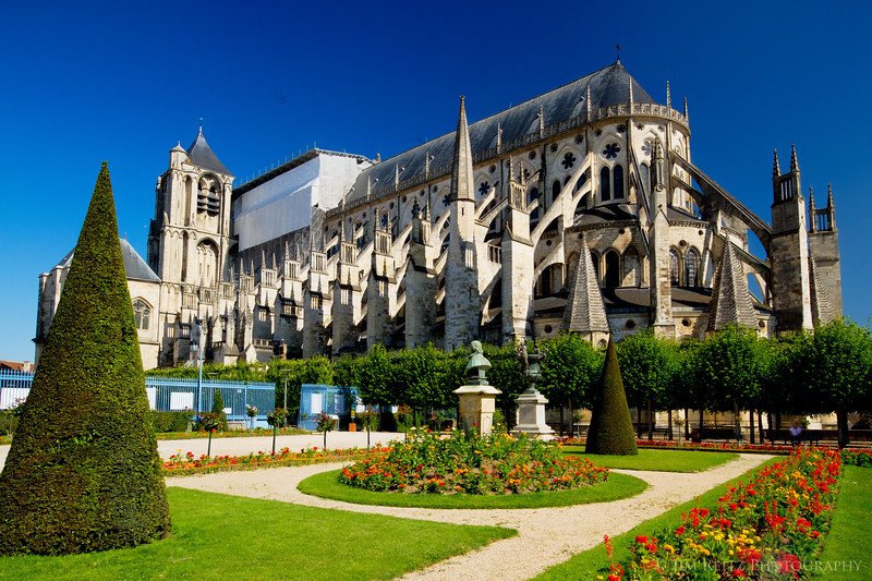 Exterior of Bourges cathedral.