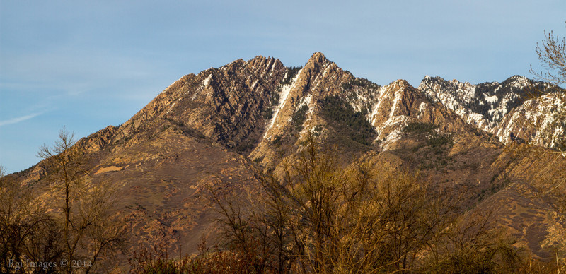 As seen from my parents front yard- Mount Olympus (Elevation: 9,026 feet), Wasatch Range, Utah.