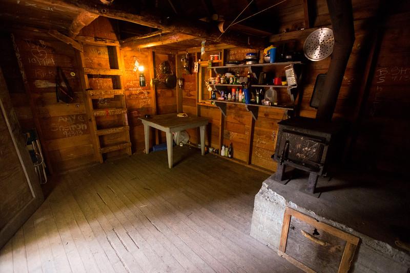 Inside Grayback Mountain Shelter