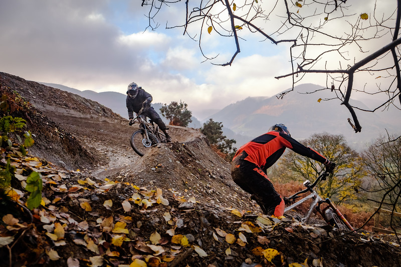 Autumn in the UK, Revolution Bike Park, Llangynog, Wales