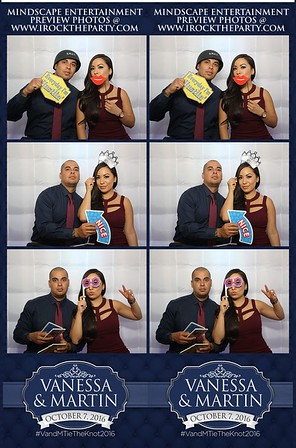 Martin & Vanessa's Wedding -Photo Booth Pictures