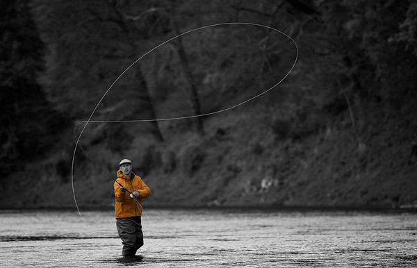 Images of Fly Fishing in Black and White