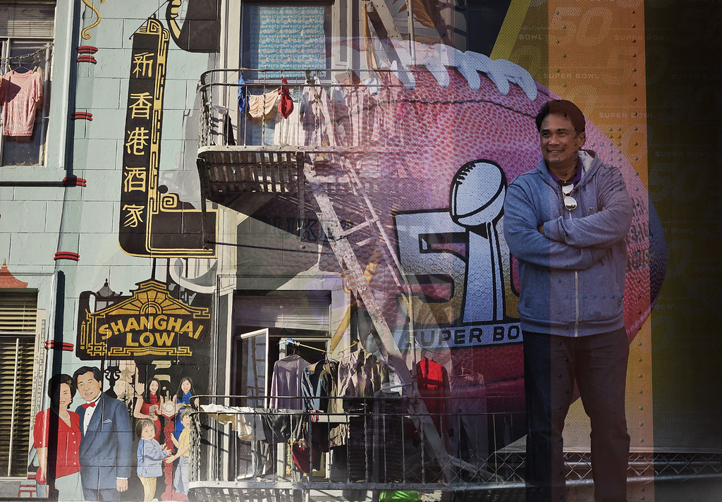 . This multiple image composite contains scenes from the NFL fan experience at Super Bowl 50 along with scenes from the San Francisco Bay area. (Photo by RJ Sangosti/The Denver Post)