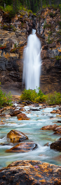 3x1 Vertical of Laughing Falls, Yoho National Park, BC Canada