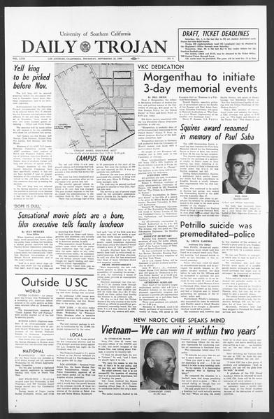 Daily Trojan, Vol. 58, No. 9, September 29, 1966