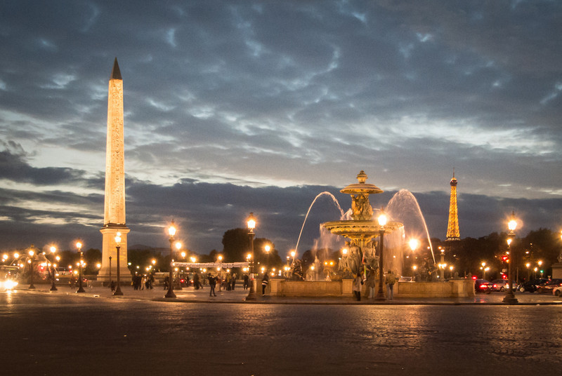 Place de la Concorde at end of Champs-Elysees