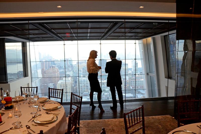 Jeannie Woodbrey, Michael Gross AVENUE MAGAZINE Presents the SALON DINNER & CONVERSATION about PUBLIC ART Featuring YVONNE FORCE VILLAREAL 10 Hudson Yards NYC, USA - 2017.04.06 Credit: Lukas Greyson
