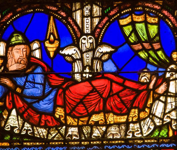 Saint-Denis Cathedral Tree of Jesse Window, Jesse Sleeping