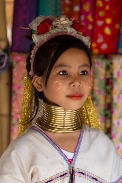 Karen Long Neck and Big Ears Chiang Rai, Thailand - December, 2017