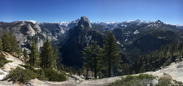 Panoramas from Glacier Point Road (May 2017)