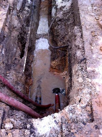 Waterleiding lekkage Oude Zeegserweg