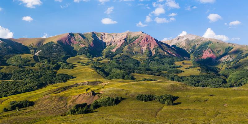 White Rock Mountain and Teocalli Mountain