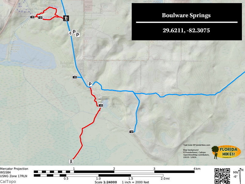 Boulware Springs Trail Map