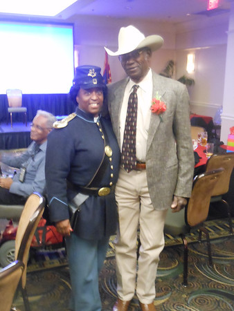 "February 16, 2013   Notable African-American Men of AZ Awards ""1st Sgt. Augustus Walley - Congressional Medal of Honor for Bravery"". Awarded: Cmdr. Fred Marable.  Post Colors."
