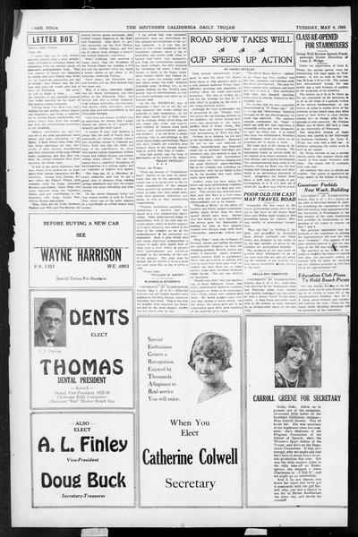Daily Trojan, Vol. 17, No. 137, May 04, 1926
