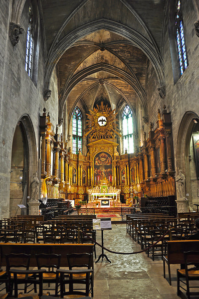 The Spectacular St. Pierre Cathedral Avignon, France.
