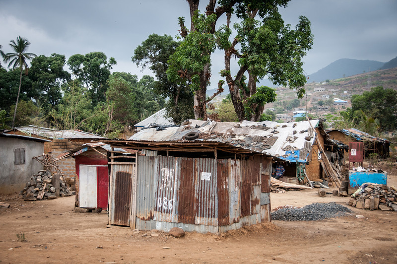 Houses in Freetown, Sierra Leone