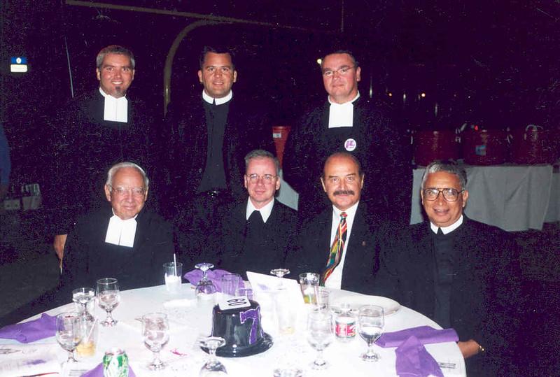 1998 (75th anniversary) Brs. John, Ted, Jesus, Lasalle, Larr.jpg