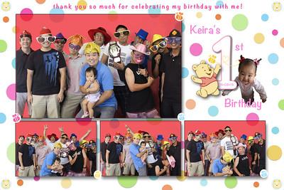 Keira's 1st Birthday (Multi-Photo Collage)