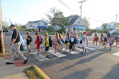 Walk to School Wednesday in Bay Head