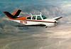 Our Beachcraft Bonanza flying across the Anza-Borrego desert