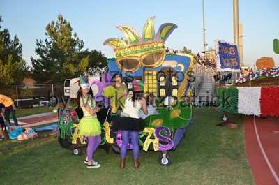 Homecoming Floats and Court