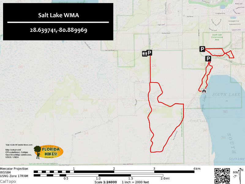 Salt Lake WMA Trail Map