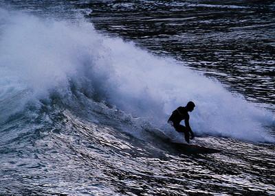 A Surfing Ninja @ Wellington South Coast
