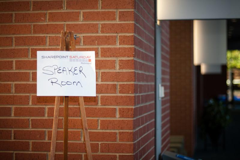 Speaker Room Sign