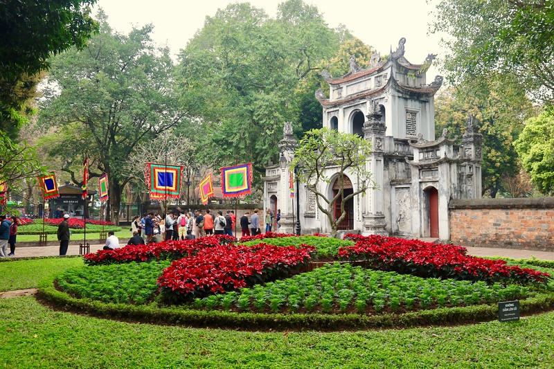 Temple of Literature, originally built in 1070, is dedicated to Confucius, sages and scholars