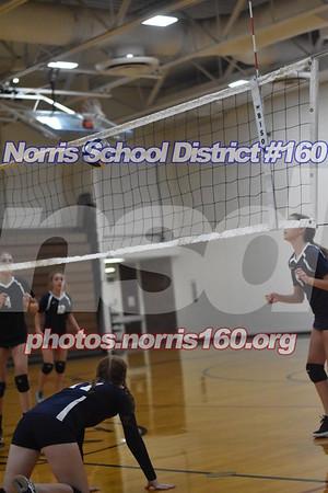 8th grad volleyball vs elkhorn ridge