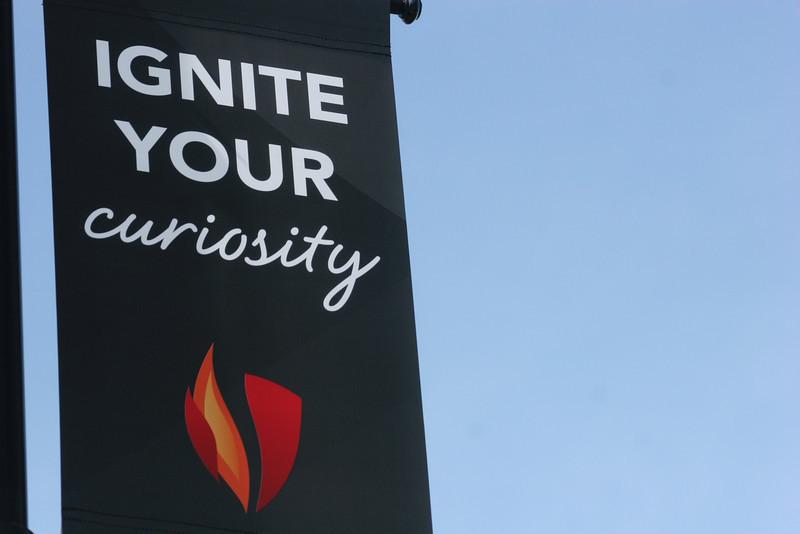 New Gardner-Webb University banners around the campus.