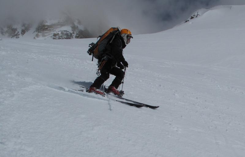 Enjoyable skiing with empty backpack…
