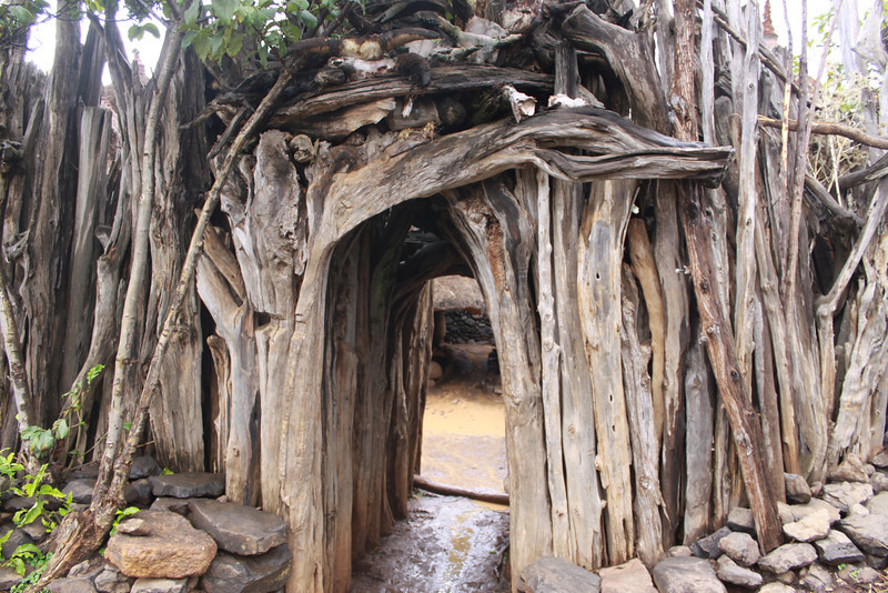 entrance to compound of the Konso tribe king