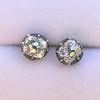1.73ctw Georgian Peruzzi Cut Diamond Collet Stud Earrings 0