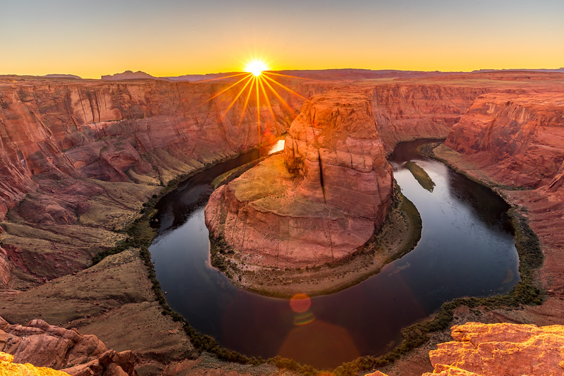 Horseshoe bend sunset