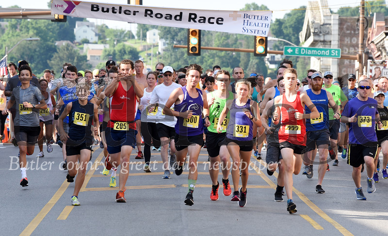 Harold Aughton/Butler Eagle: The 44th running of the Butler Road Race took place Saturday, June 29.